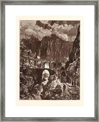 The Devils Bridge Framed Print