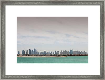 The Dubai Skyline Framed Print