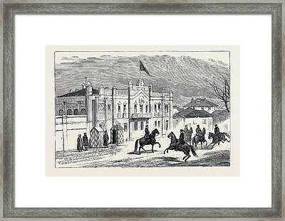 The Eastern Question In The Russian Camp Framed Print by English School