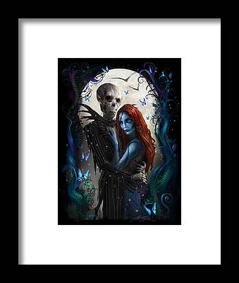 Nightmare Before Christmas Framed Prints