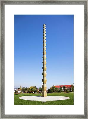 The Endless Column By Constantin Framed Print by Martin Zwick