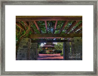 The Entrance To The Alumni Memorial Grove Framed Print
