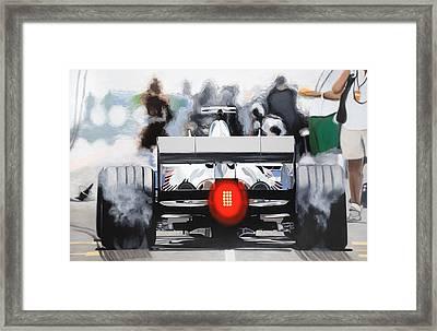 The F1 Burger Framed Print by Marcella Lassen