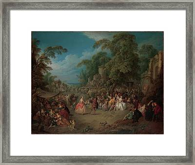 The Fair At Bezons Framed Print by Jean-Baptiste Joseph Pater
