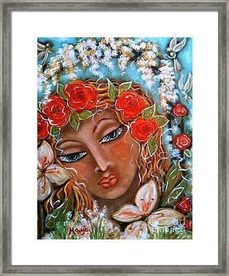 The Fairies In Merlynn's Garden Framed Print