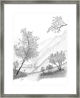 The Falls Framed Print by Carl Genovese