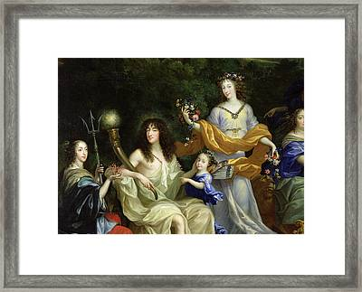The Family Of Louis Xiv 1638-1715 1670 Oil On Canvas Detail Of 60094 Framed Print