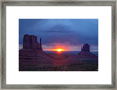 The Famous Red Rock Mittens In Monument Framed Print