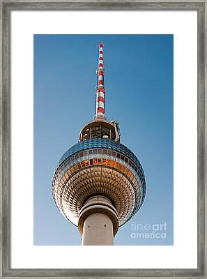 The Fernsehturm - Berlin Framed Print by Luciano Mortula
