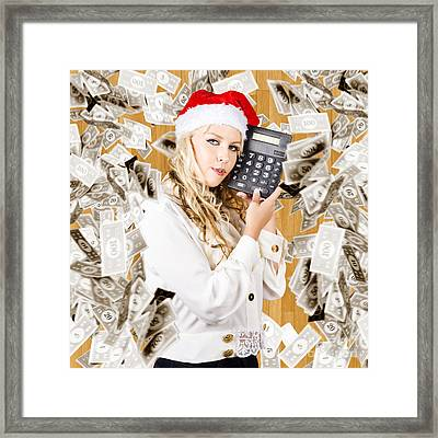 The Financial Fallout From The Cost Of Christmas Framed Print by Jorgo Photography - Wall Art Gallery