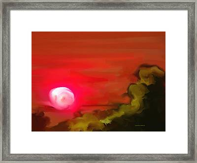The Fire Next Time Framed Print by Lenore Senior