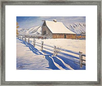 The First Snow Framed Print by Jim  Reale