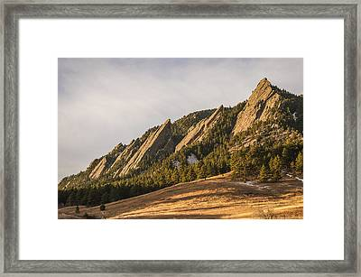 The Flatirons 2 Framed Print