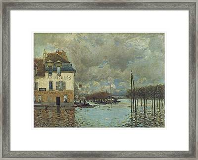 The Flood At Port-marly Framed Print by Alfred Sisley