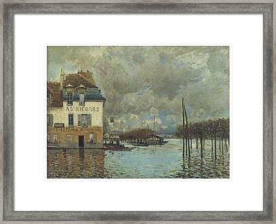 The Flood At Port-marly Framed Print