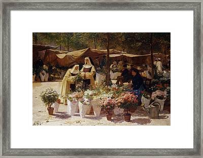 The Flower Market Framed Print