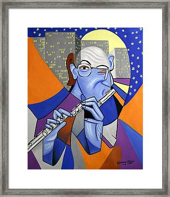 The Flutist Framed Print by Anthony Falbo