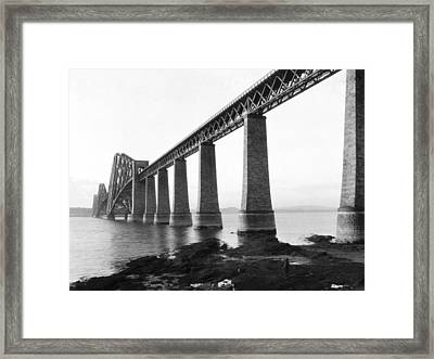 The Forth Bridge Framed Print by Underwood Archives