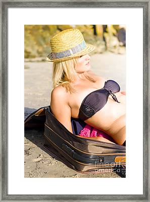 The Freedom Of Living Out Of  A Suitcase Framed Print by Jorgo Photography - Wall Art Gallery