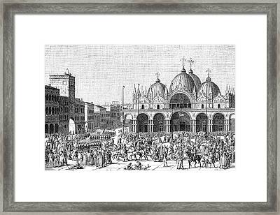 The French Pillage Venice,  Carrying Framed Print by Mary Evans Picture Library