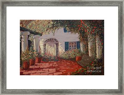 The Garden Framed Print by Monica Caballero