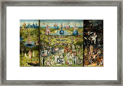 The Garden Of Earthly Delights Framed Print by Hieronymus Bosch