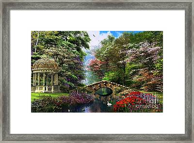 The Garden Of Peace Framed Print by Dominic Davison