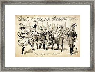 The Gay Morning Glories, 1898 Framed Print by Photo Researchers