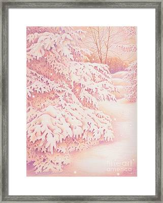 The Gently Falling Snow Framed Print