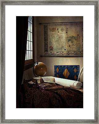 The Geographer Framed Print by Levin Rodriguez