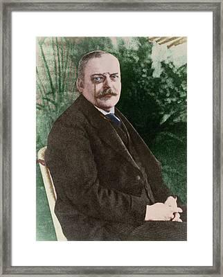 The German Psychiatrist Alois Alzheimer Framed Print