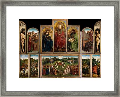 The Ghent Altarpiece Open Framed Print by Jan Van Eyck
