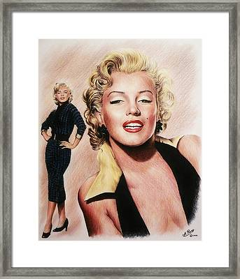 The Glamour Days Marilyn Monroe Framed Print
