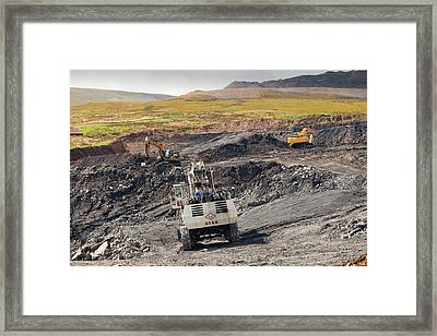 The Glentaggart Open Cast Coal Mine Framed Print by Ashley Cooper