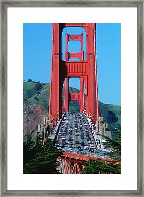The Golden Gate Bridge And The Entrance Framed Print by John Alves