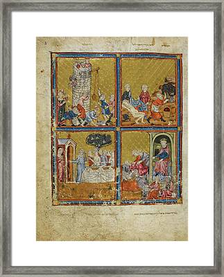 The Golden Haggadah Framed Print by British Library