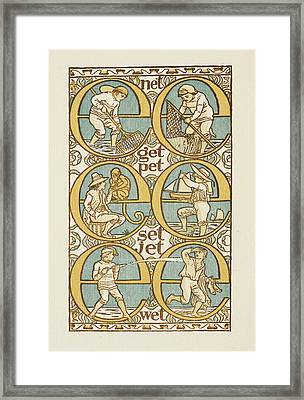 The Golden Primer Framed Print by British Library