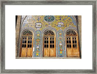 The Golestan Palace In Tehran Iran Framed Print by Robert Preston
