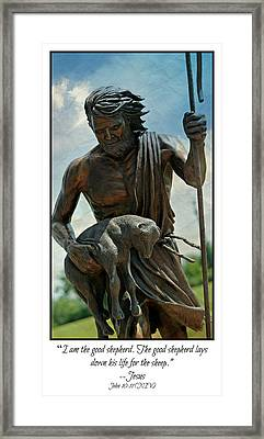The Good Shepherd Framed Print by Stephen Stookey