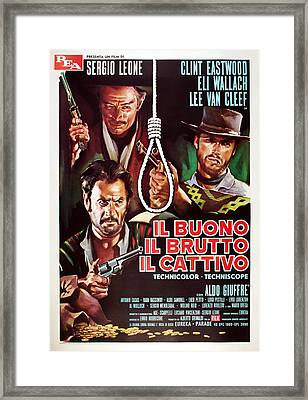 The Good, The Bad And The Ugly, Aka Il Framed Print