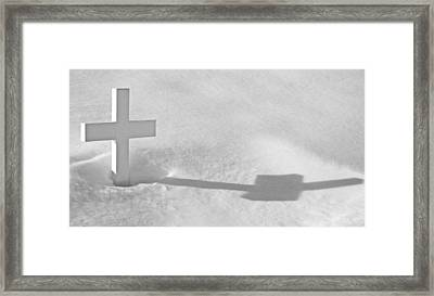 Framed Print featuring the photograph The Grave Of Bobby Kennedy by Cora Wandel