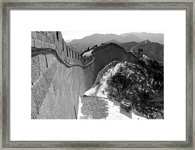 The Great Wall Of China Framed Print by Sebastian Musial