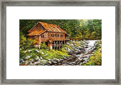 The Grist Mill Framed Print by Jim Gola
