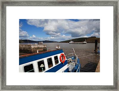 The Harbour And Fishing Boats, Passage Framed Print by Panoramic Images