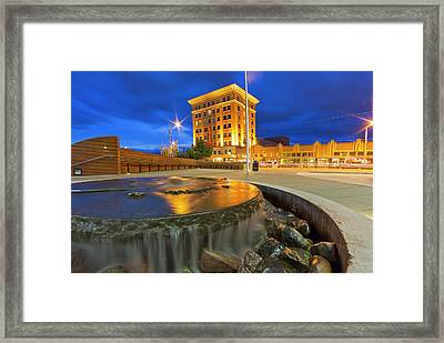The Historic Wilma Theatre Building Framed Print by Chuck Haney