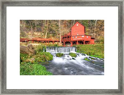 The Hodgson Water Mill - Missouri Framed Print