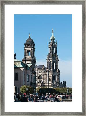 The Hofkirche (church Of The Court Framed Print by Michael Defreitas