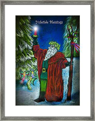The Holly King Framed Print