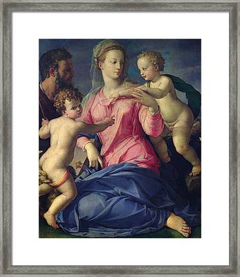 The Holy Family Framed Print by Agnolo Bronzino