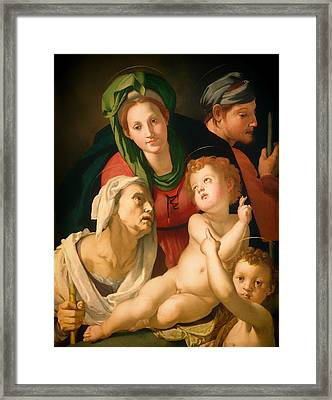 The Holy Family Framed Print by Mountain Dreams